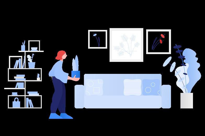 Home plants Clipart illustration in PNG, SVG