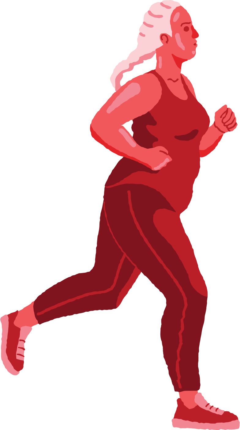 running woman Clipart illustration in PNG, SVG