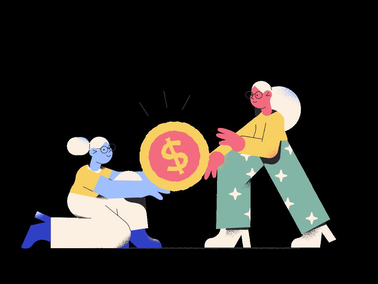 Imágenes vectoriales peleando por dinero en PNG y SVG estilo  | Ilustraciones Icons8