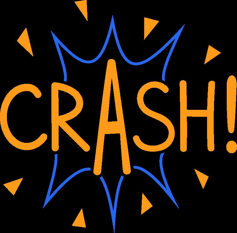 crash line Clipart illustration in PNG, SVG