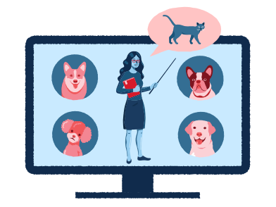 style Remote education for dogs images in PNG and SVG | Icons8 Illustrations