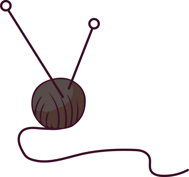 knitting Clipart illustration in PNG, SVG
