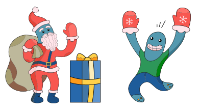 style Santa, thanks for the gift! images in PNG and SVG | Icons8 Illustrations