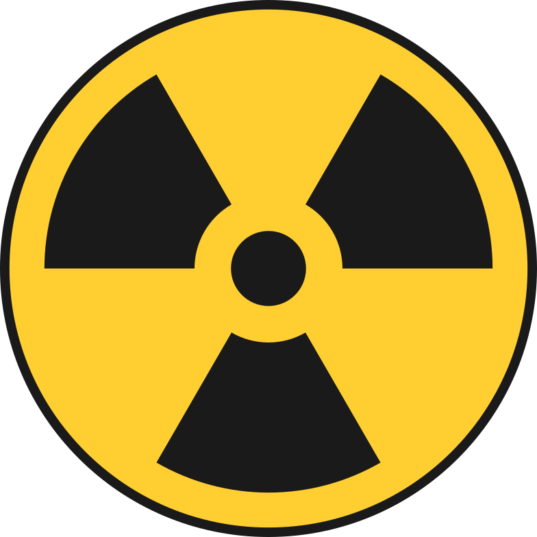 radioactive sign Clipart illustration in PNG, SVG