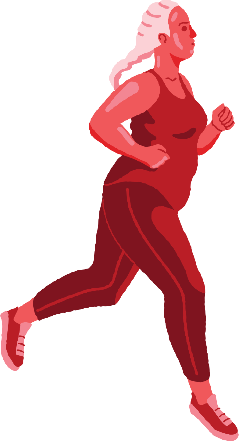 curvy woman running Clipart illustration in PNG, SVG