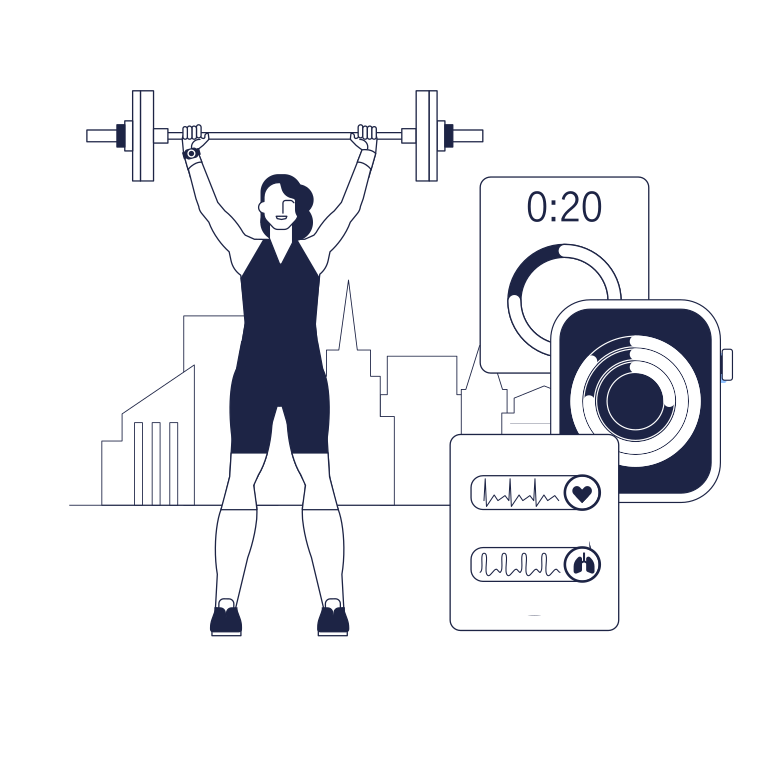 Fitness Clipart illustration in PNG, SVG