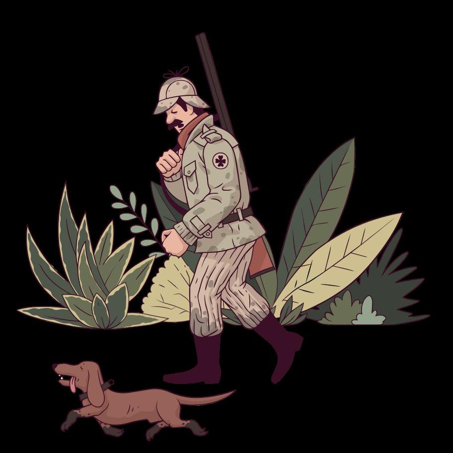 Jagd Clipart-Grafik als PNG, SVG
