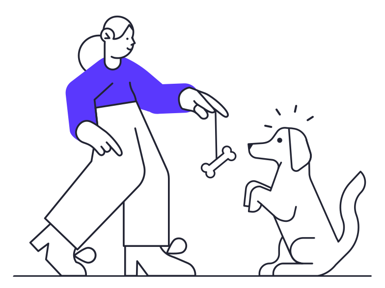 style Dog training Vector images in PNG and SVG | Icons8 Illustrations