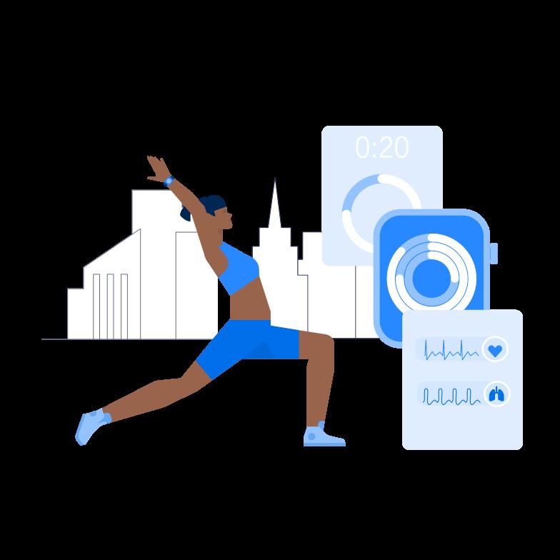Smart Fitness Clipart illustration in PNG, SVG