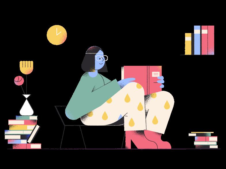Bibliophile Clipart illustration in PNG, SVG