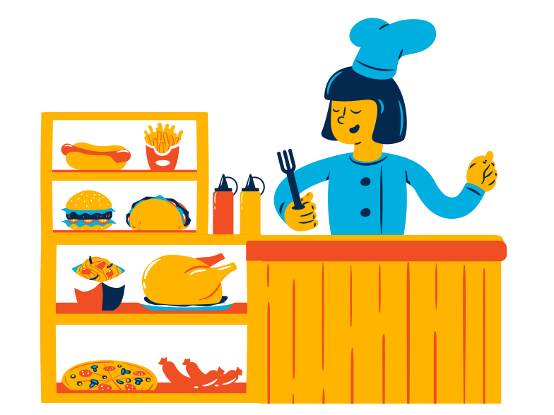 Welcome to the diner Clipart illustration in PNG, SVG