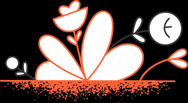 plants composition Clipart illustration in PNG, SVG