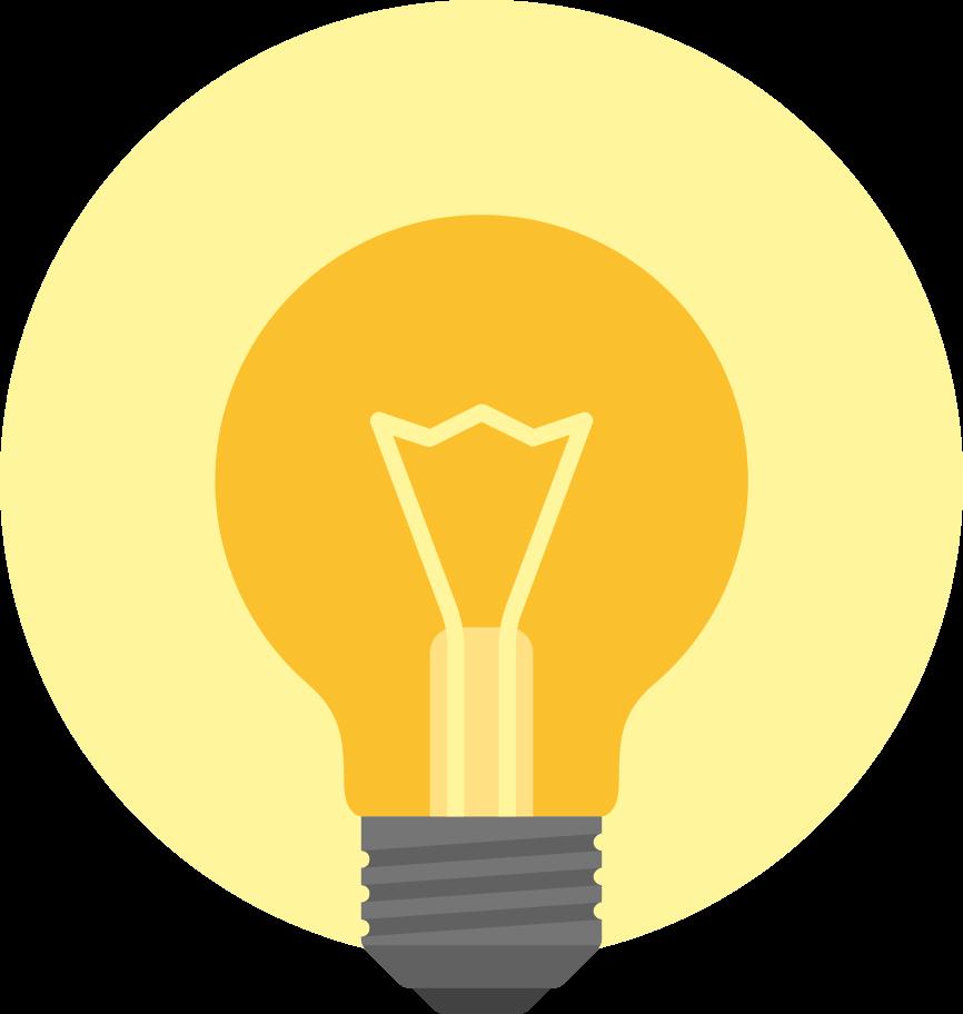 light bulb idea Clipart illustration in PNG, SVG