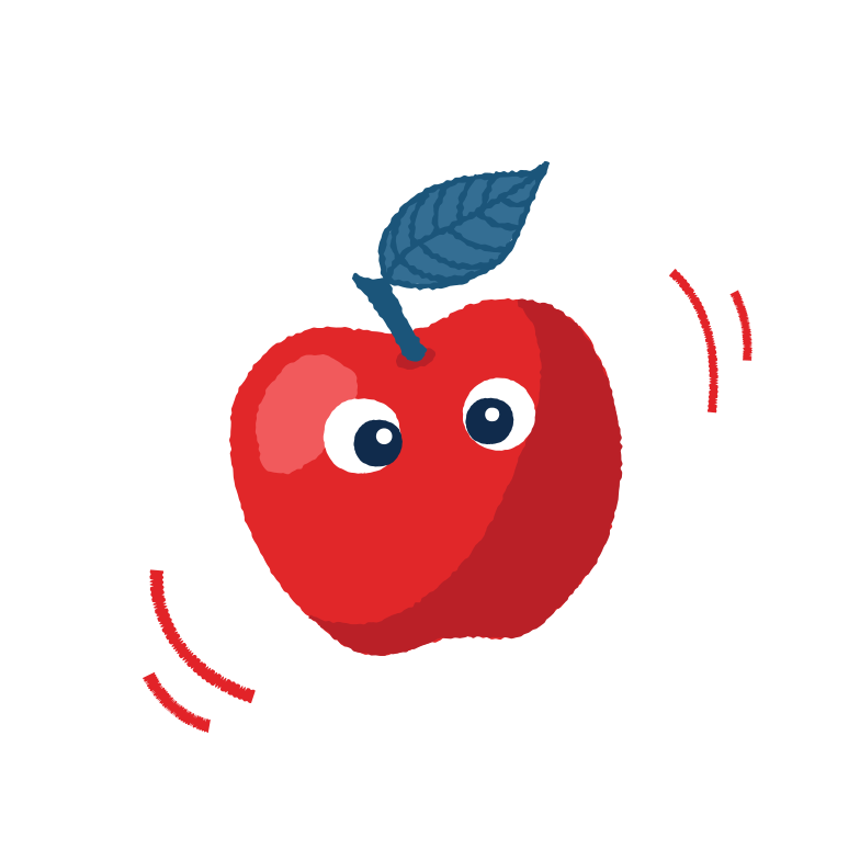 Cute apple Clipart illustration in PNG, SVG