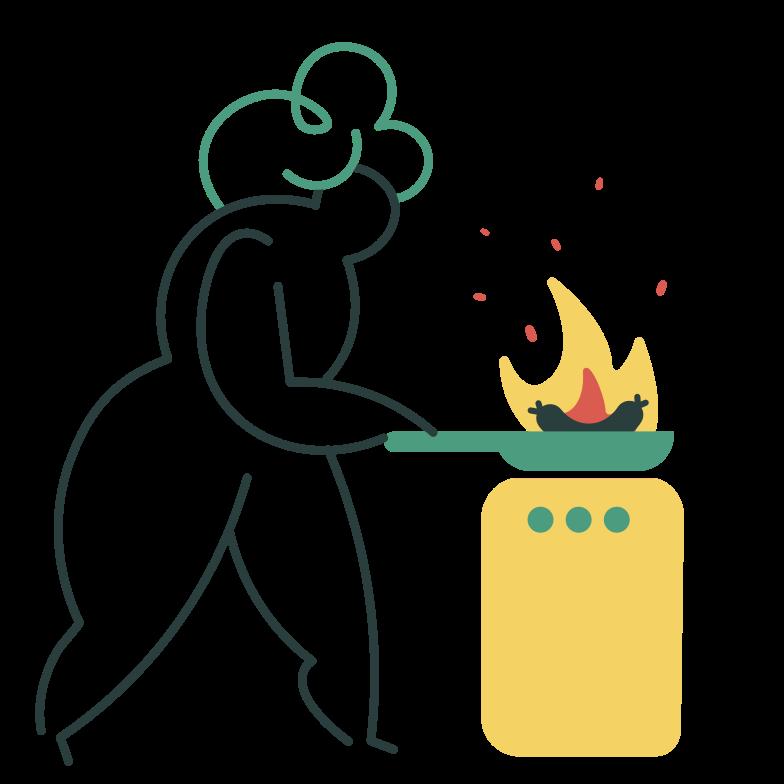 Burnt dinner Clipart illustration in PNG, SVG