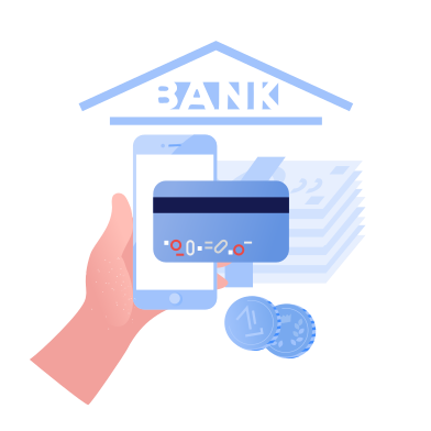 style Online banking application images in PNG and SVG | Icons8 Illustrations