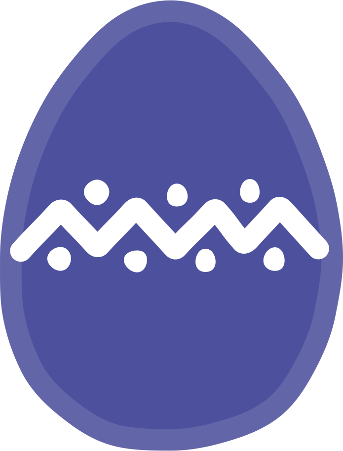 easter egg Clipart illustration in PNG, SVG