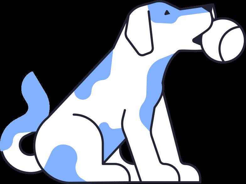 Vektorgrafik im  Stil hund mit ball als PNG und SVG | Icons8 Grafiken