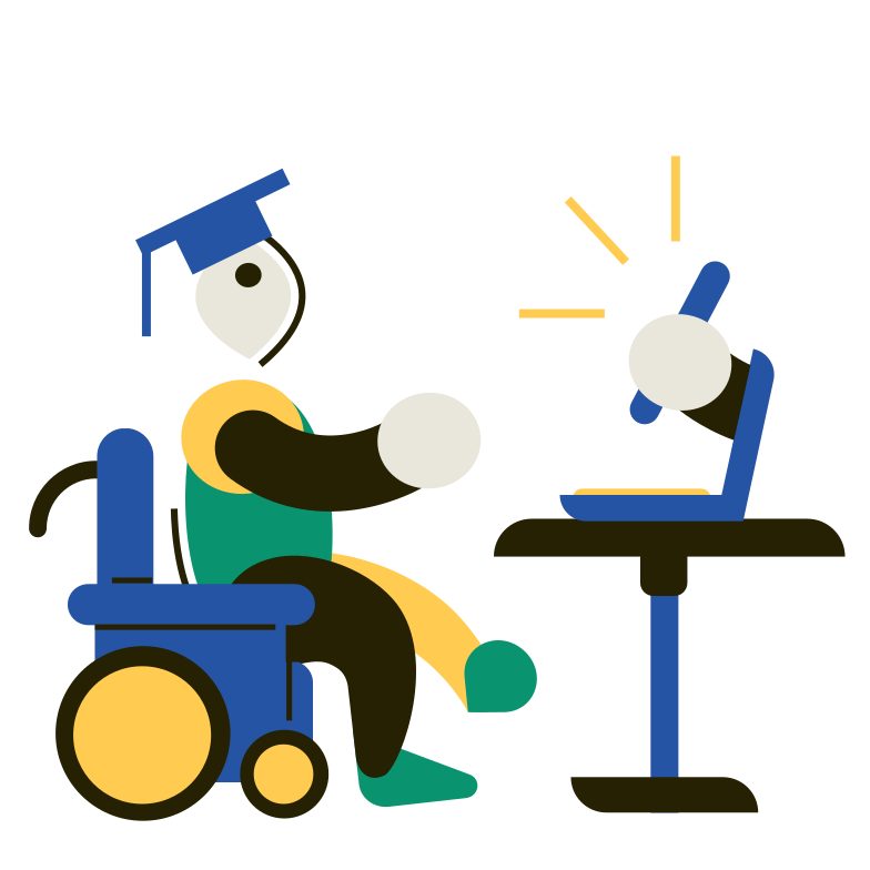 Training for the disabled Clipart illustration in PNG, SVG