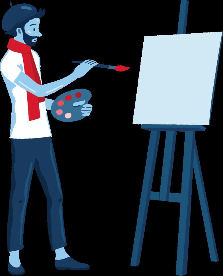 künstler Clipart-Grafik als PNG, SVG