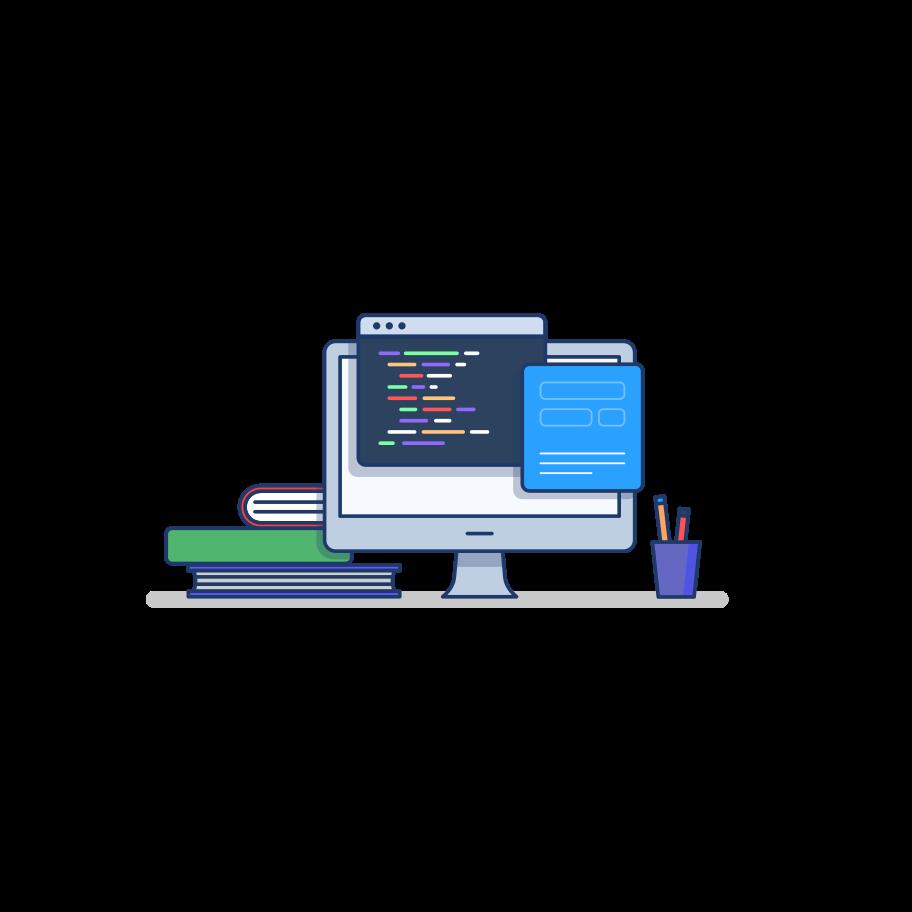 Ilustración de clipart de programación en PNG, SVG