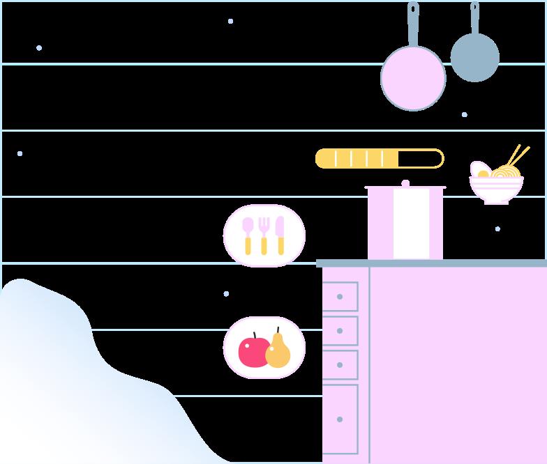 kitchen background Clipart illustration in PNG, SVG