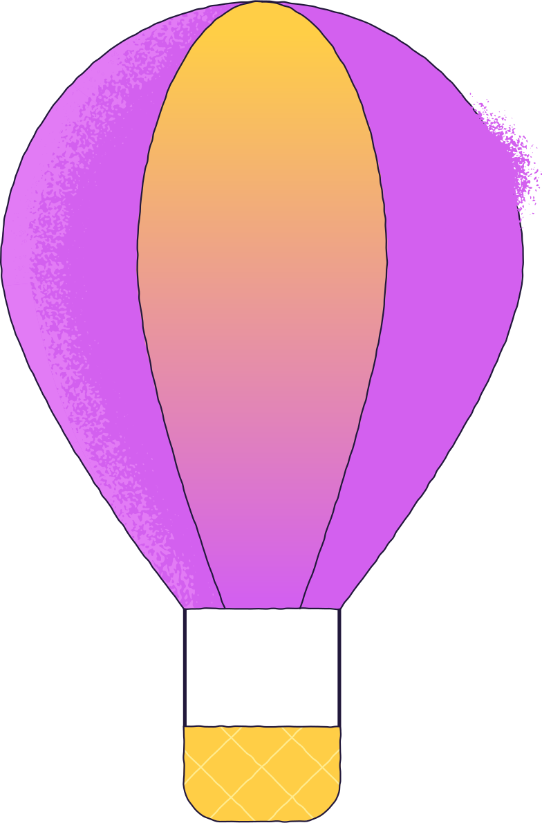 hotair balloon Clipart illustration in PNG, SVG