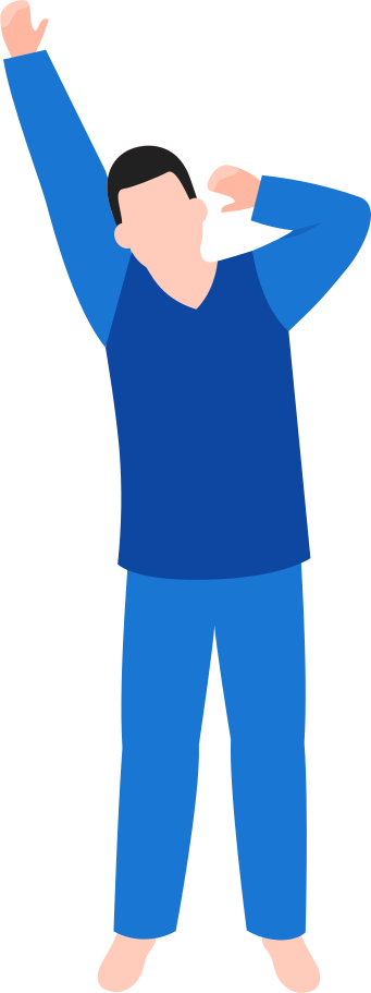 man in pajamas Clipart illustration in PNG, SVG