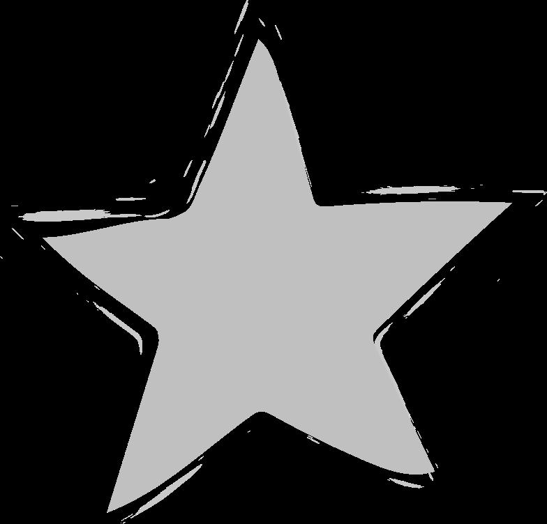tk silver star Clipart illustration in PNG, SVG