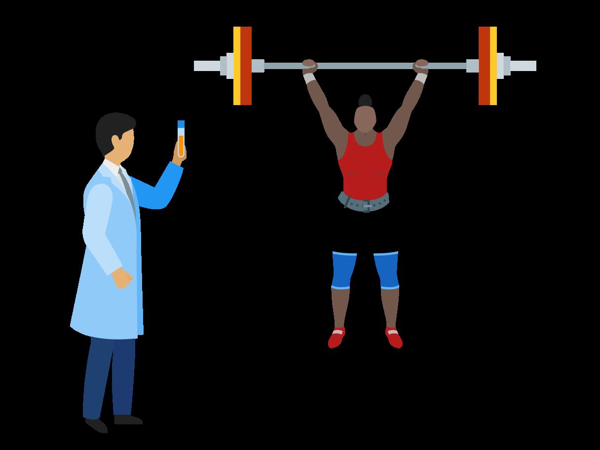 Bodybuilding Clipart-Grafik als PNG, SVG