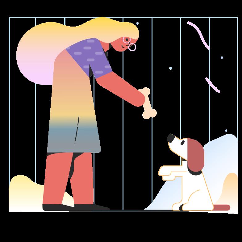ペットに餌をやる のPNG、SVGクリップアートイラスト