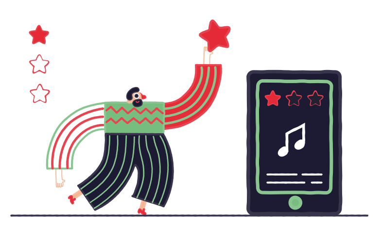 Playlist Clipart illustration in PNG, SVG
