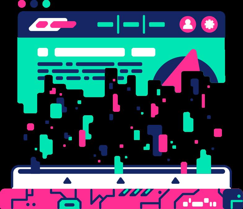 destroyed browser window Clipart illustration in PNG, SVG