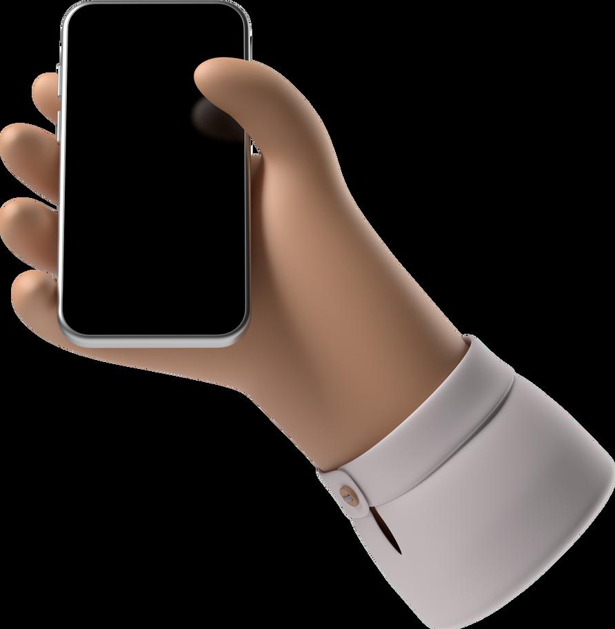 hand mit telefon Clipart-Grafik als PNG, SVG