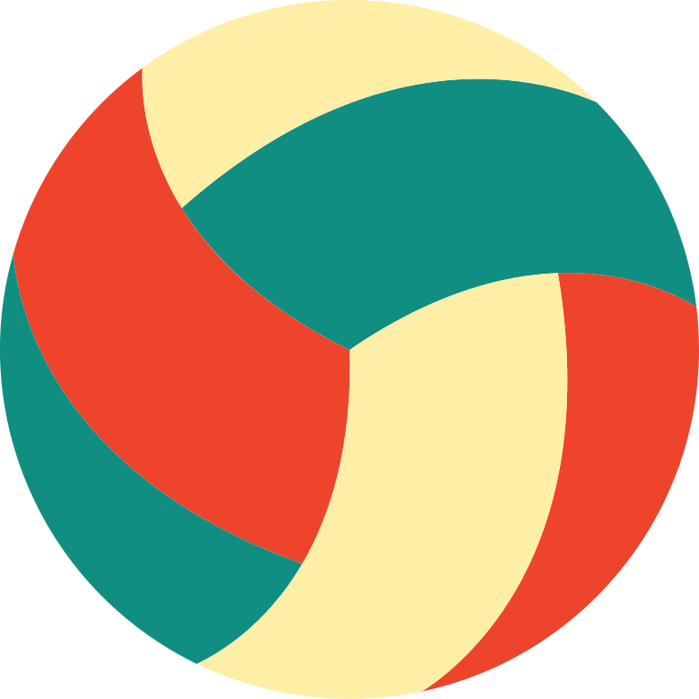 wolleyball ball Clipart illustration in PNG, SVG