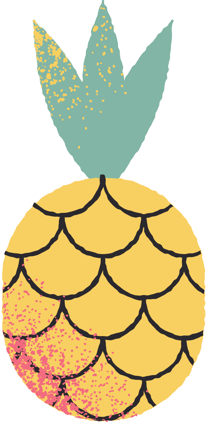 pineapple Clipart illustration in PNG, SVG