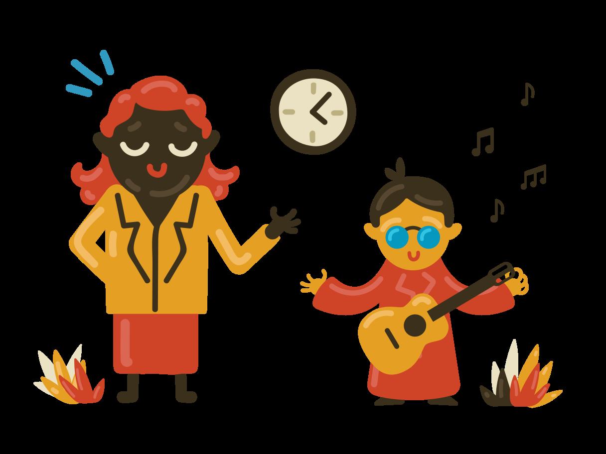 Illustration clipart Professeur de musique aux formats PNG, SVG