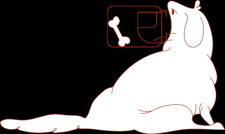 i fatal error dog Clipart illustration in PNG, SVG