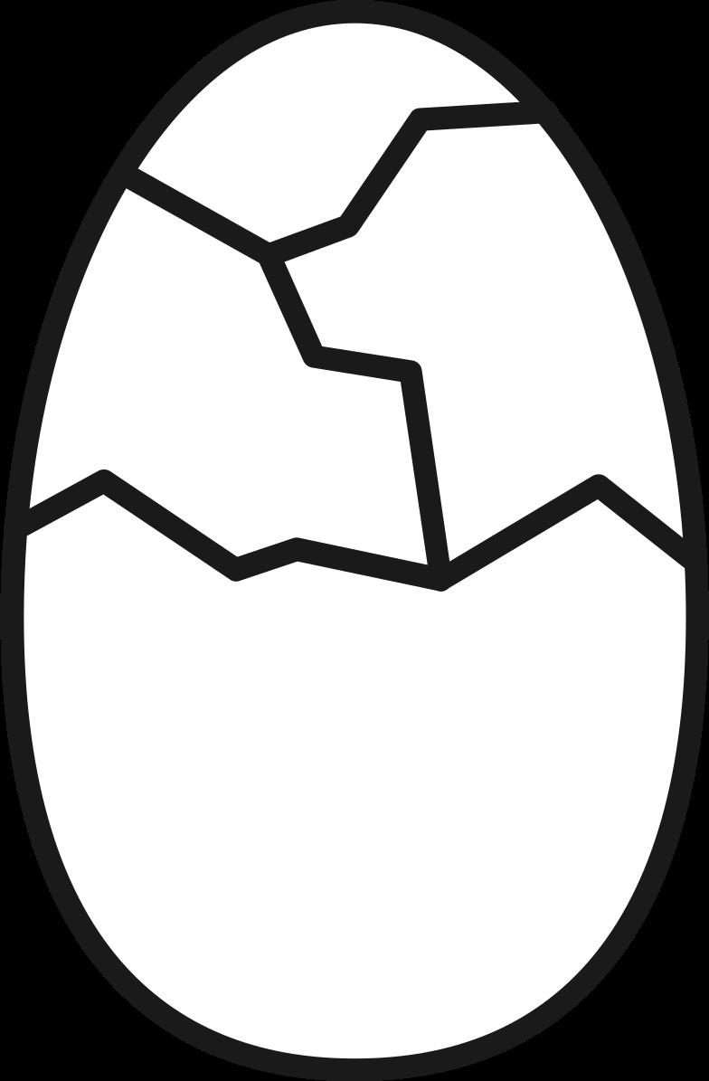 cracked egg Clipart illustration in PNG, SVG