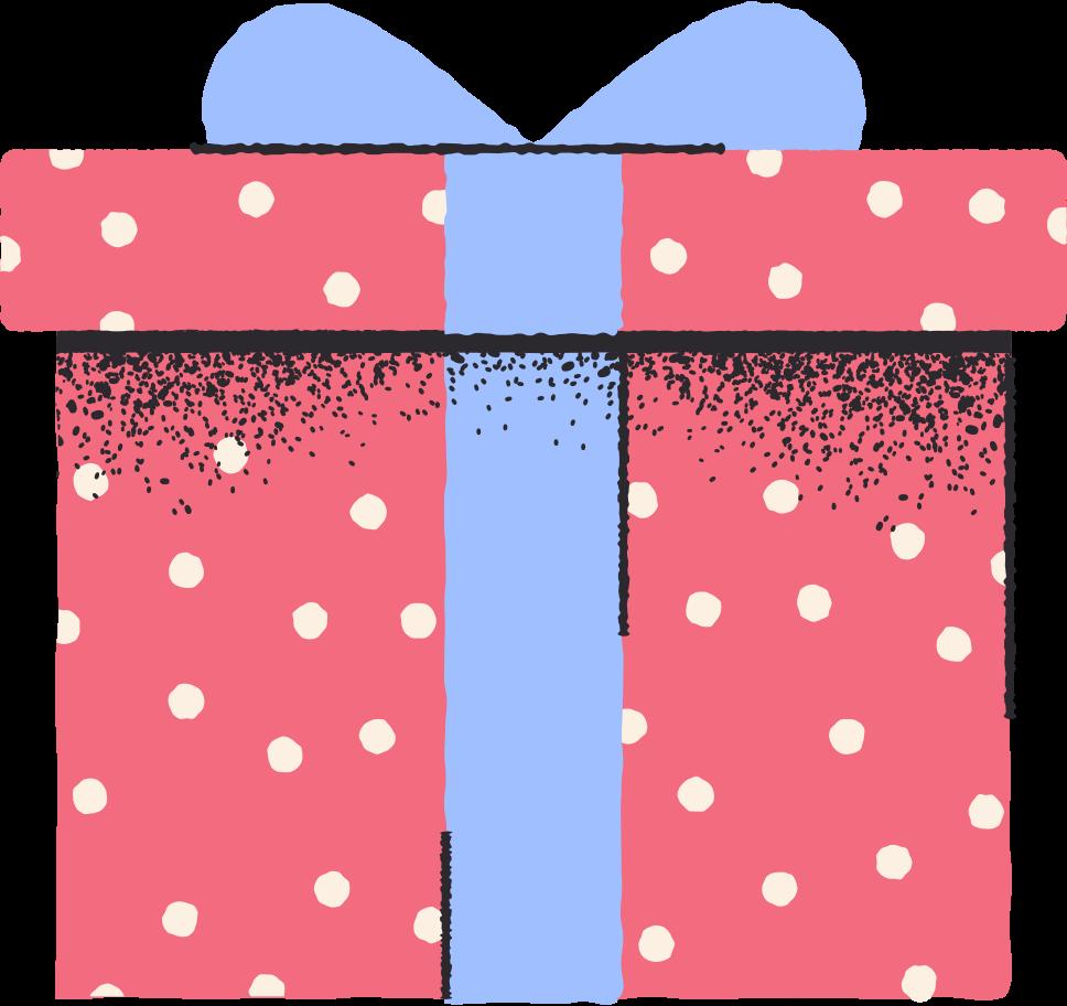 big red gift Clipart illustration in PNG, SVG