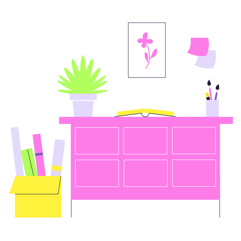 House interior Clipart illustration in PNG, SVG