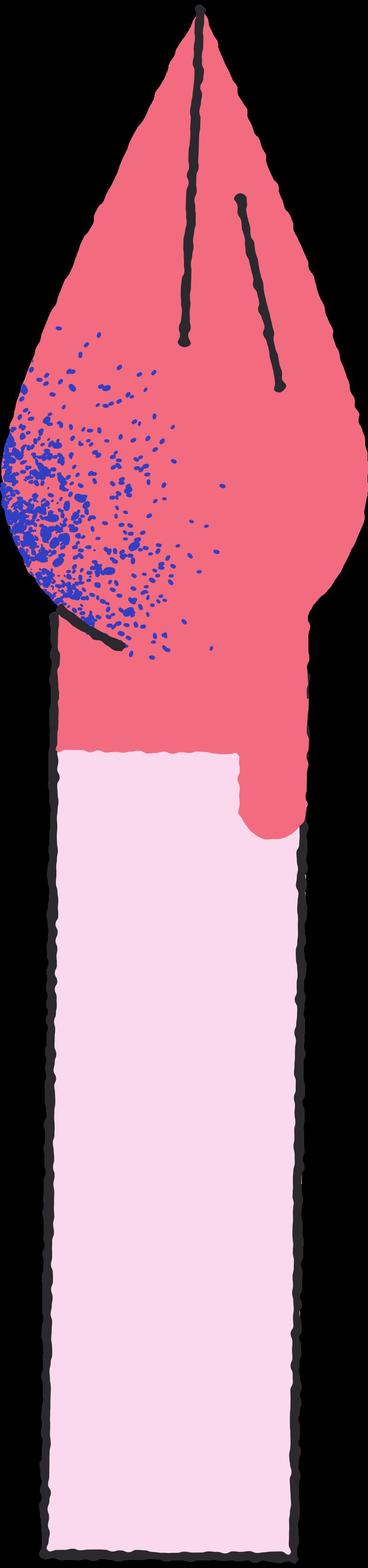 Escova vermelha Clipart illustration in PNG, SVG