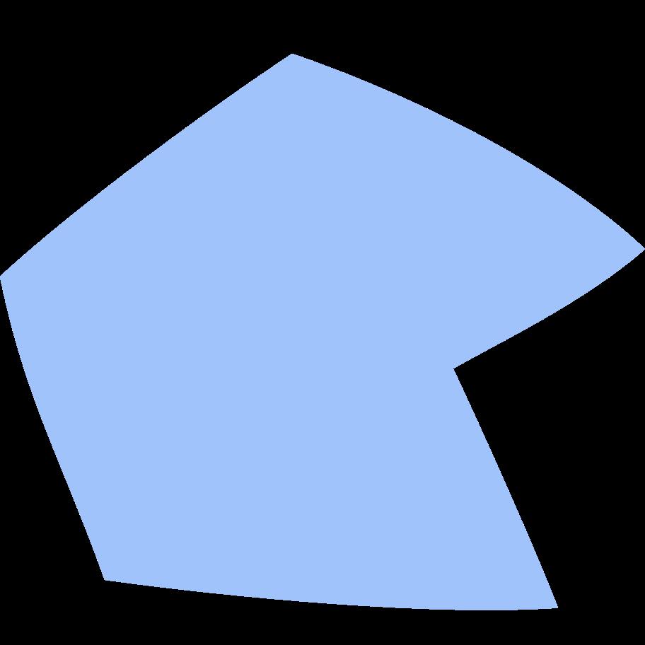 Ilustración de clipart de Polígono azul en PNG, SVG