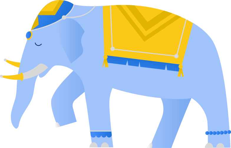 style indian blue elephant Vector images in PNG and SVG | Icons8 Illustrations