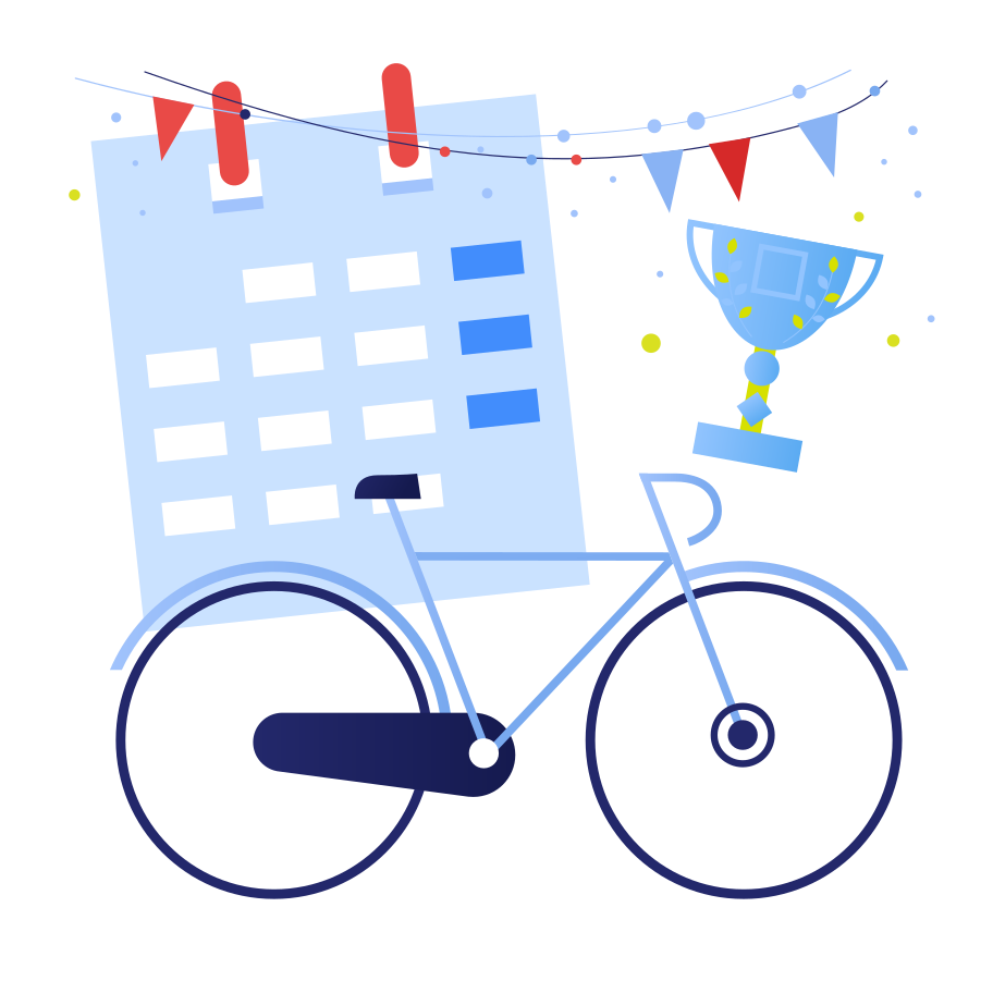Victory in a bicycle race Clipart illustration in PNG, SVG
