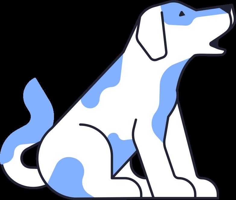 barking dog Clipart illustration in PNG, SVG