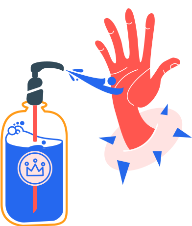 style antiseptic and right hand without bubbles images in PNG and SVG | Icons8 Illustrations