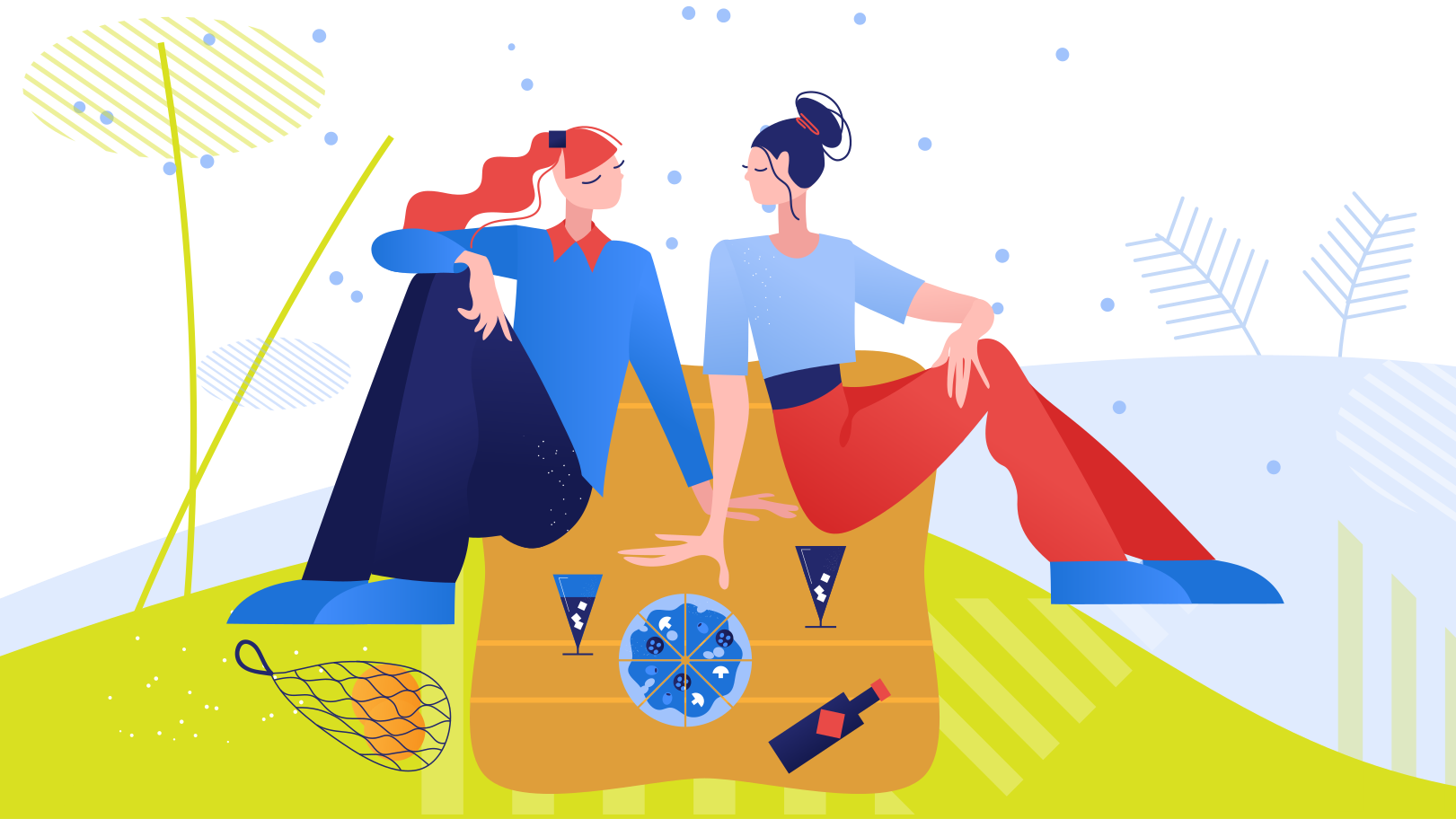 Picnic with loved one Clipart illustration in PNG, SVG