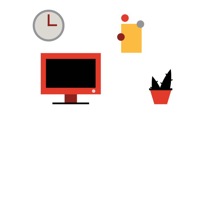 Office space Clipart illustration in PNG, SVG