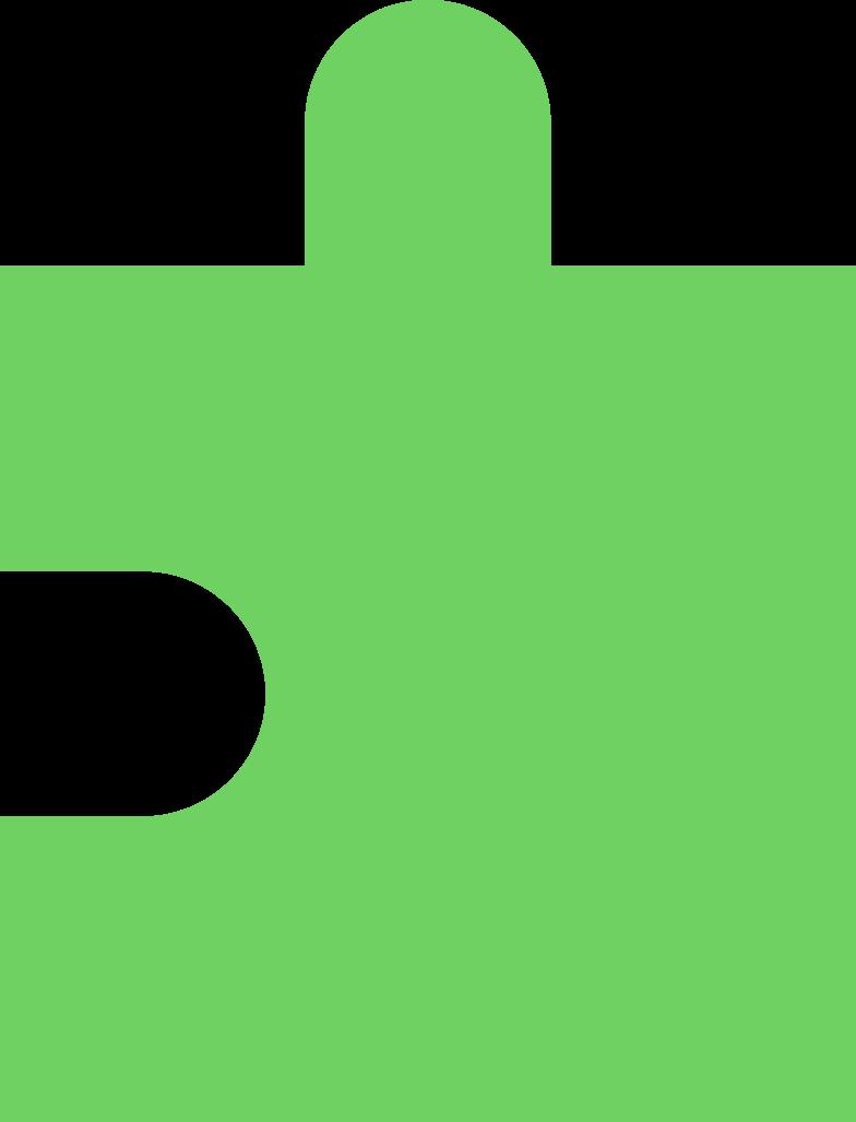 Pezzo di puzzle verde chiaro Illustrazione clipart in PNG, SVG